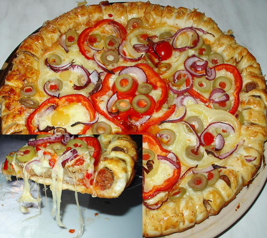 Pizza cu coronita