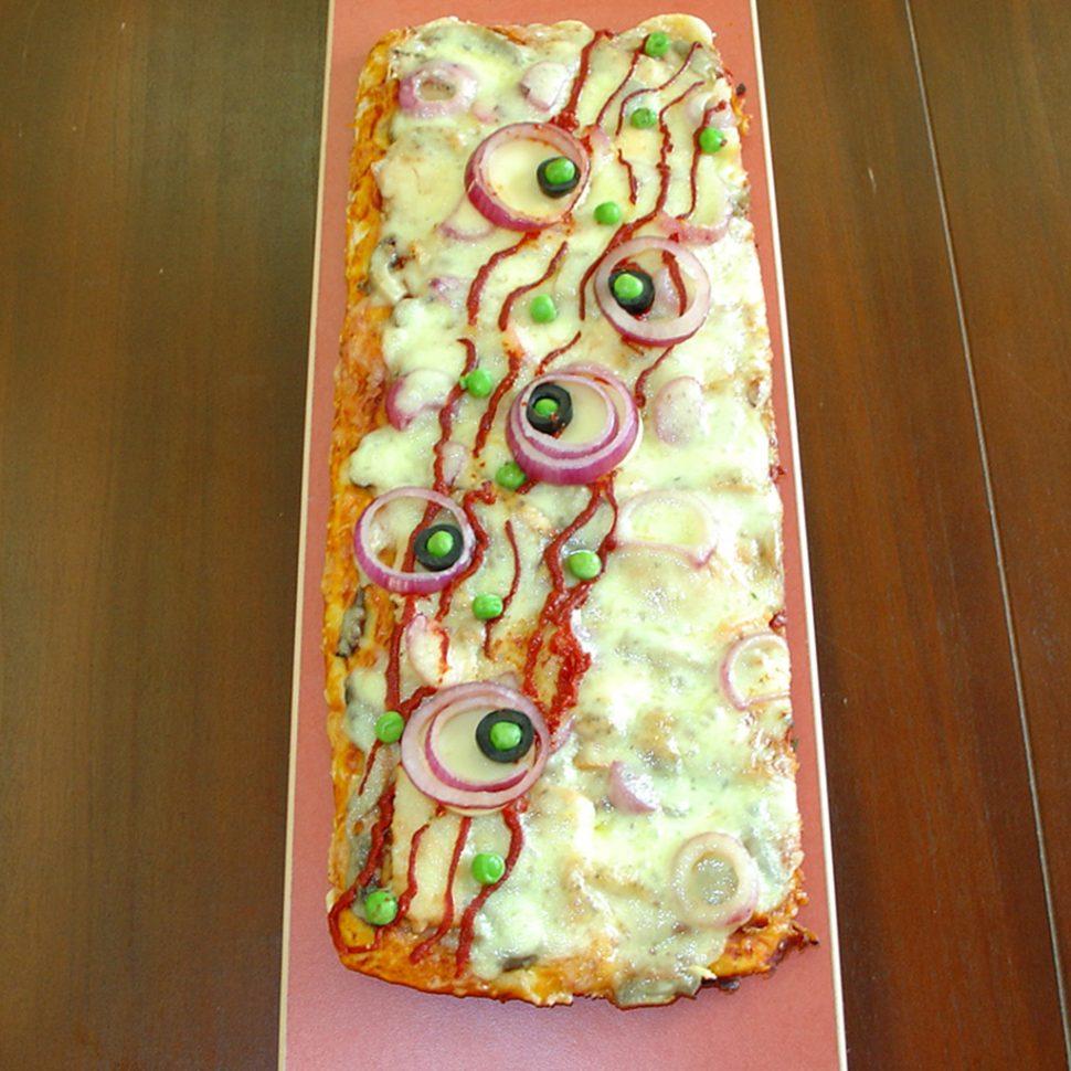 pizza cu mazare