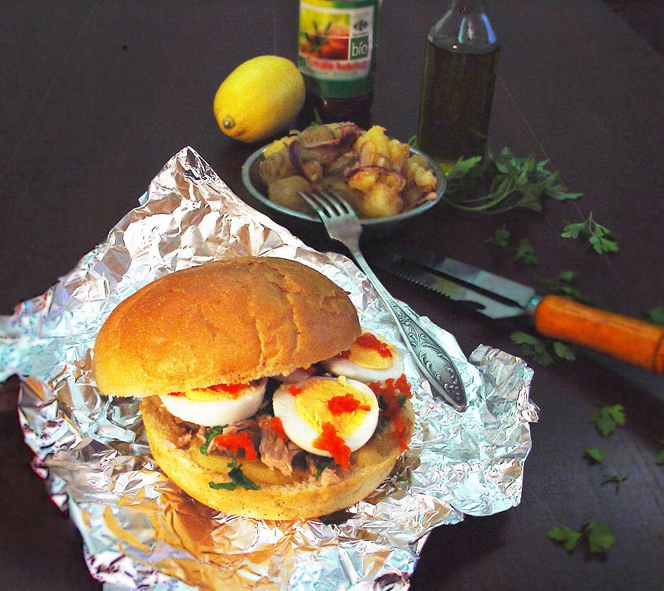 3-sandwich cu ton
