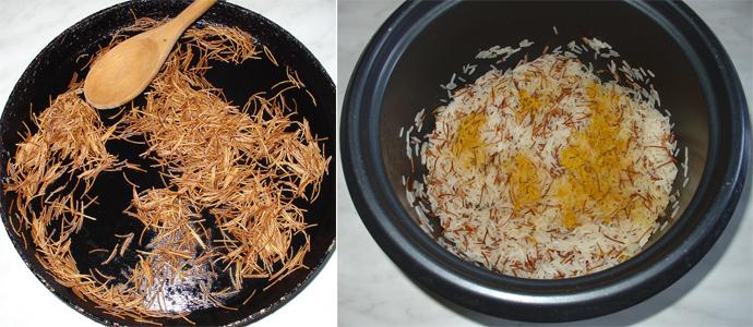 2-Garnitura din orez cu fidea prajita