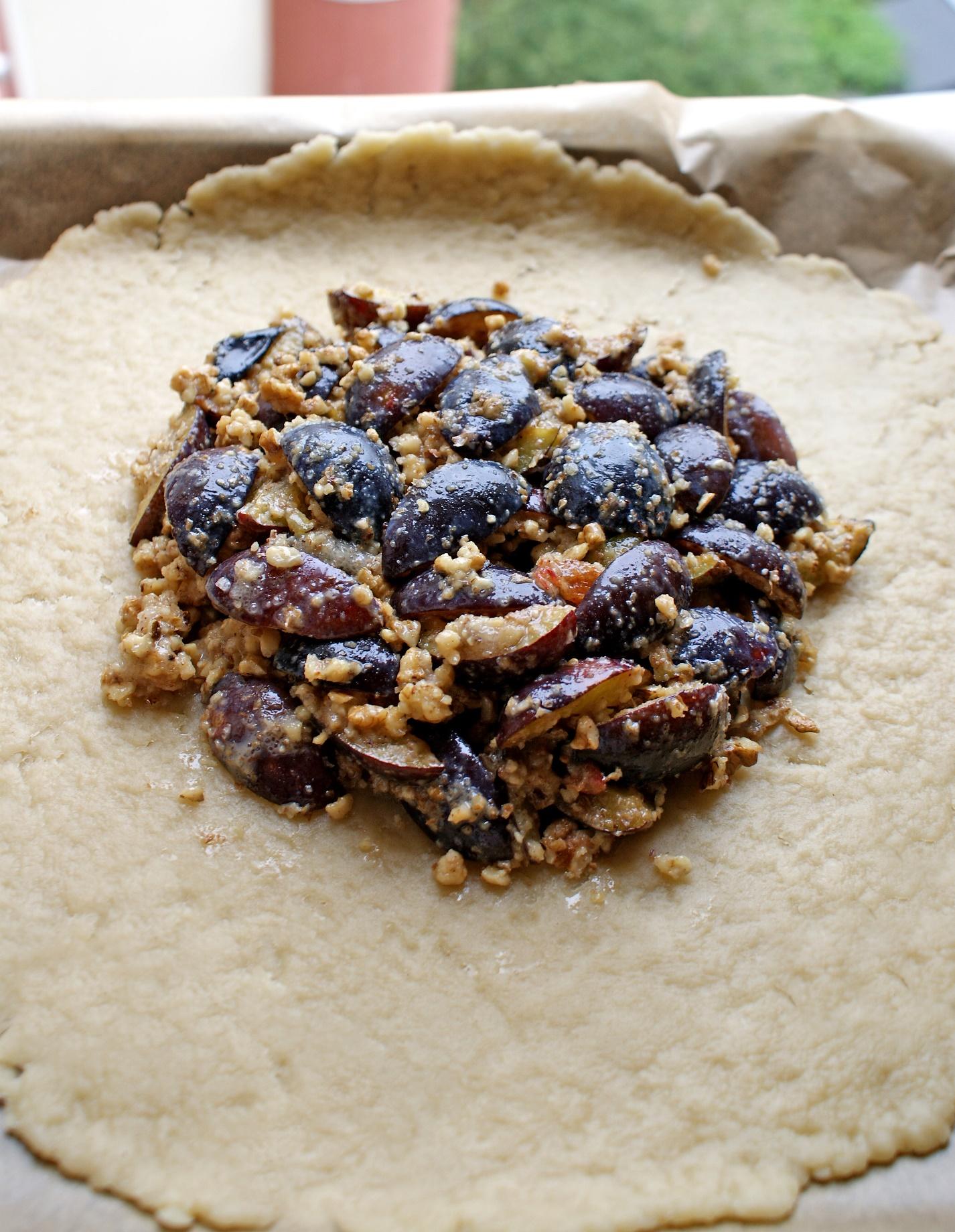 Tarta rustica cu prune