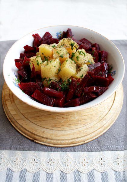 salata de sfecla cu cartof