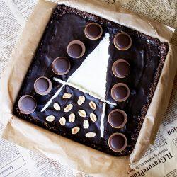 Tort toffifee cu caramel si ciocolata