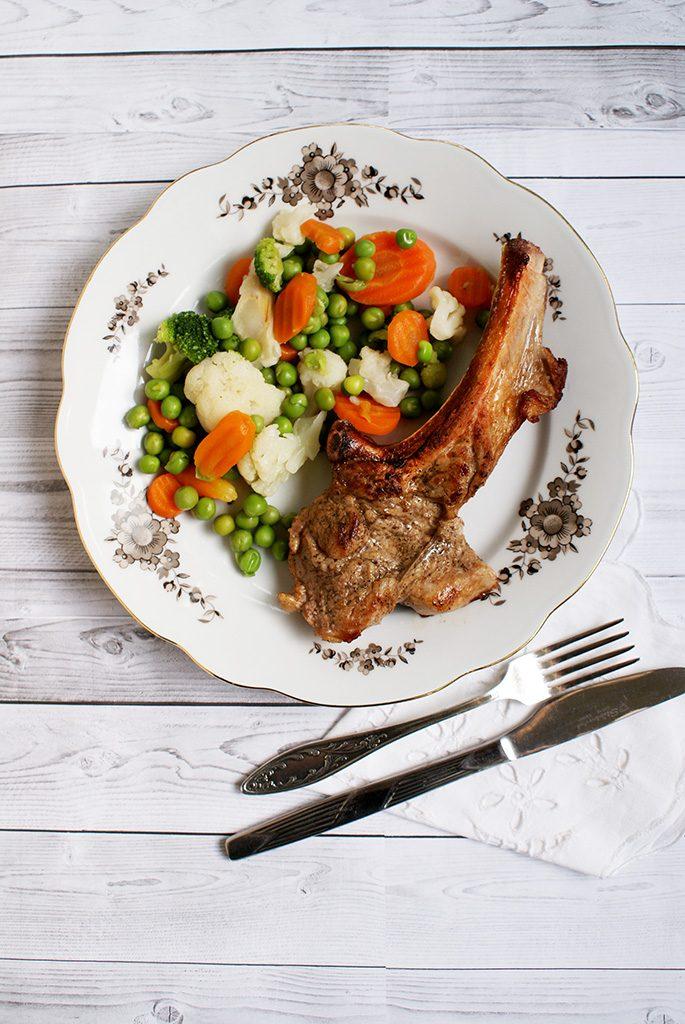 Antricot cu legume