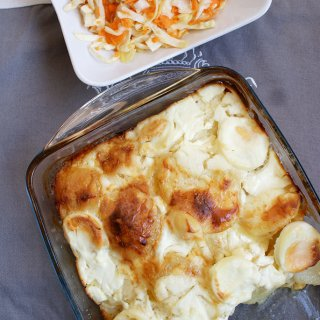Reteta de cartofi frantuzesti cu cascaval, oua si smantana