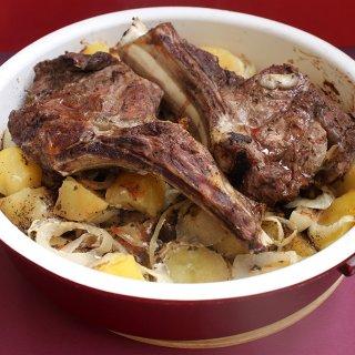 antricot de vita cu cartofi aromati