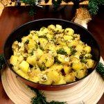 Cartofi la cuptor cu boabe de mustar si usturoi