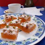 Rahat turcesc (lokum) aromat, cu fistic