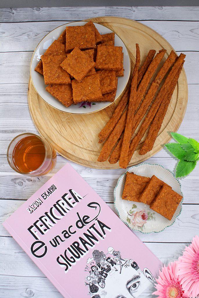 Biscuiti cu gust de pizza (crackers)