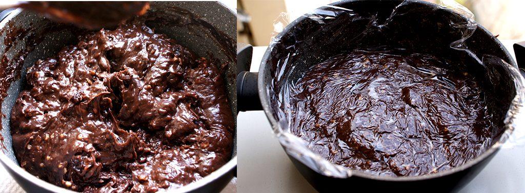 Tort cu fructe de padure si ciocolata