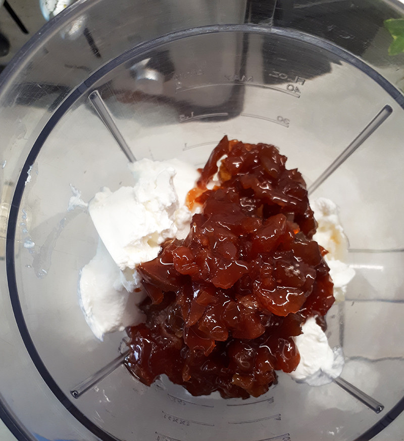 Inghetata din dulceata si pepene galben
